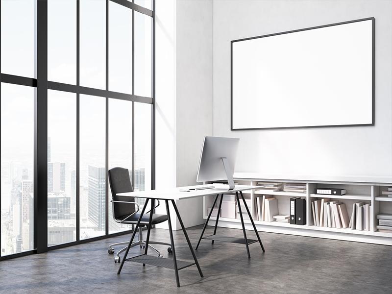 Büro mit guter Innenbeleuchtung